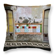 Backstreets Of Palma De Mallorca Throw Pillow