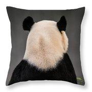 Backward Panda Throw Pillow