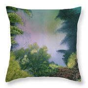 Backwoods Mist Throw Pillow