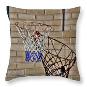 Backyard Basketball Throw Pillow