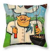Backyard Bistro Throw Pillow