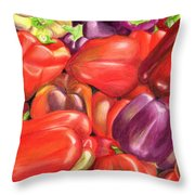 Backyard Bounty Throw Pillow by Ekta Gupta