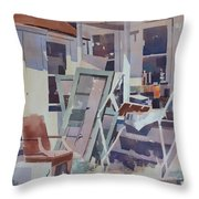 Country Shed Throw Pillow