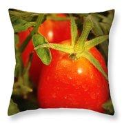 Backyard Garden Series - Roma Tomatoes Throw Pillow