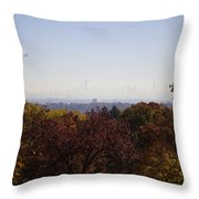 Backyard View Throw Pillow