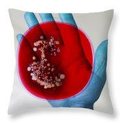 Bacteria Found On Hands Throw Pillow