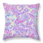 Bacteries Violets Throw Pillow
