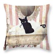 Bad Cat I Throw Pillow