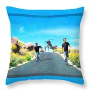 Bad Day For A Nature Hike Throw Pillow