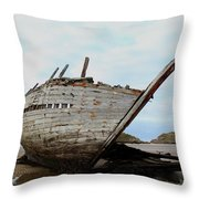 Bad Eddie's Boat Donegal Ireland Throw Pillow