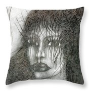 Bad Glance Throw Pillow