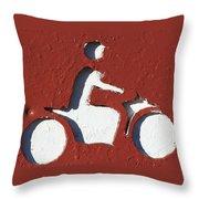 Bad Motor Scooter Throw Pillow