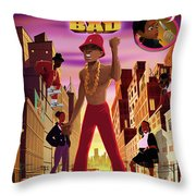 BAD Throw Pillow by Nelson  Dedos Garcia