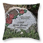 Badger Rose Bowl Win 1999 Throw Pillow