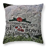 Badgers Rose Bowl Win 1994 Throw Pillow