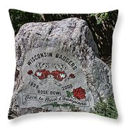 Badgers Rose Bowl Win 2000 Throw Pillow