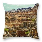 Badlands 7 Throw Pillow