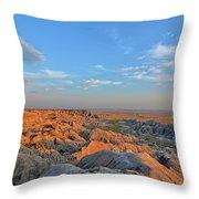 Badlands Evening Throw Pillow
