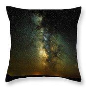 Badlands Milky Way Throw Pillow