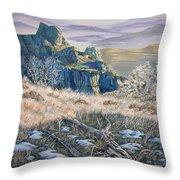Badlands Morning Throw Pillow