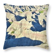 Badlands National Park Throw Pillow