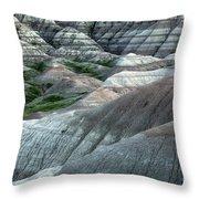 Badlands National Park South Dakota 2 Throw Pillow