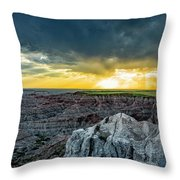 Badlands Np Pinnacles Overlook 2 Throw Pillow