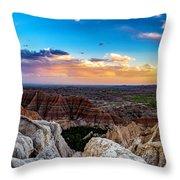Badlands Np Pinnacles Overlook 3 Throw Pillow