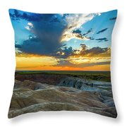Badlands Np Wilderness Overlook 1 Throw Pillow