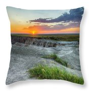 Badlands Np Wilderness Overlook 3 Throw Pillow