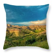 Badlands Np Yellow Mounds Overlook  Throw Pillow