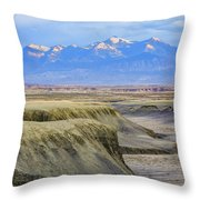 Badlands Of Utah Throw Pillow