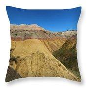 Badlands Panorama Throw Pillow