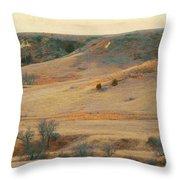 Badlands Prairie Reverie Throw Pillow