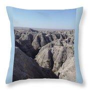 Badlands S.dakota Landscape  Throw Pillow