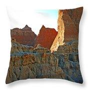Badlands Sunset Throw Pillow
