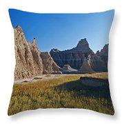 Badlands Sunset On Wihite Sandstpone Throw Pillow