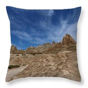 Badlands View From A Trail Throw Pillow