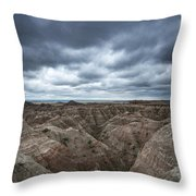 Badlands White River Valley  Throw Pillow
