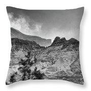 Badlands Winter Throw Pillow