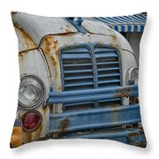 Badly Bruised Divco Throw Pillow