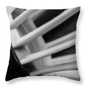 Badminton Shuttlecock Abstract Monochrome Throw Pillow