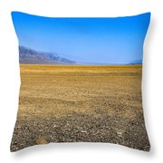 Badwater Basin In Death Valley Throw Pillow