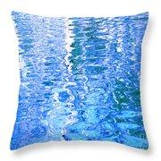 Baffling Blue Water Throw Pillow