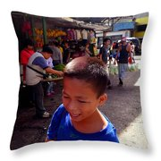 Bag Helper In Baguio Throw Pillow