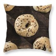 Bagels Throw Pillow