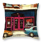 Bagels Etc Montreal Throw Pillow