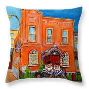 Bagg Street Synagogue Sabbath Throw Pillow