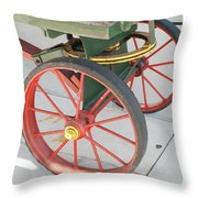 Baggage Cart Throw Pillow