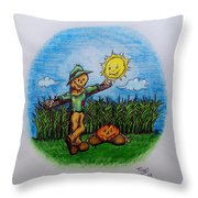 Baggs And Boo Throw Pillow